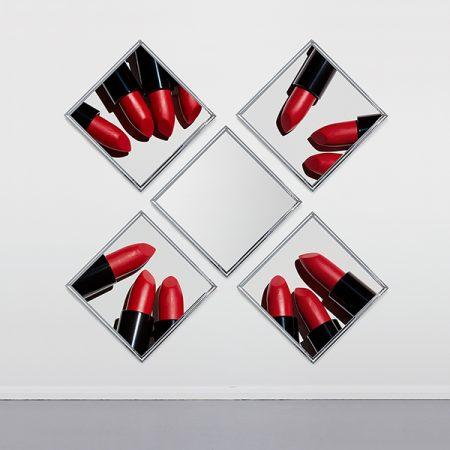 contemporary mirror with lipstick art around london