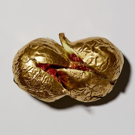 contemporary art gold fruit photograph