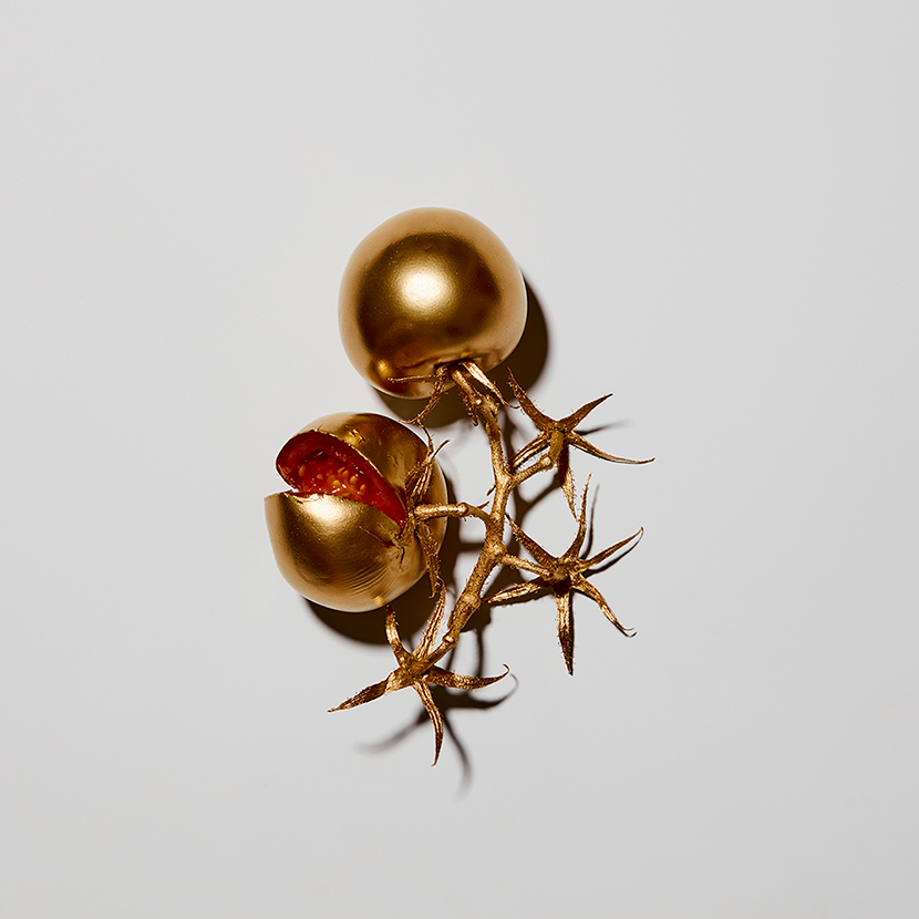 limited edition contemporary gold art title tomatoes