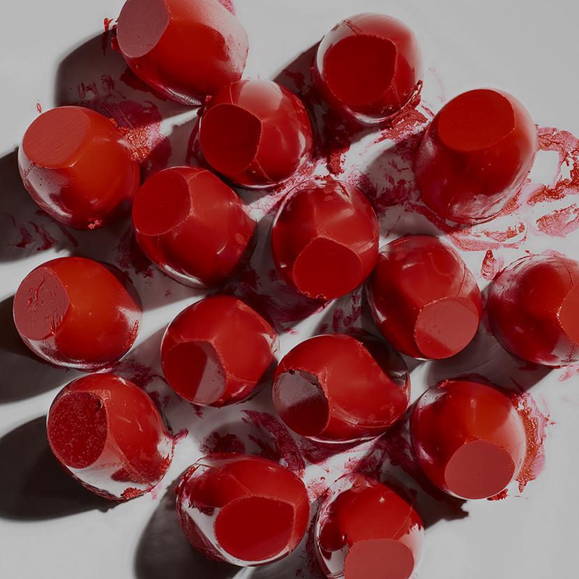contemporary art photography by paul krokos art title 16 lipstick heads